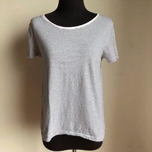Zara sz S stripped short sleeve shirt